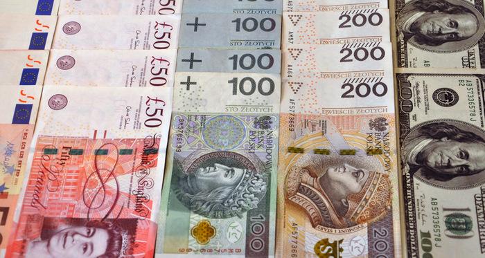 waluty, złoty, frank szwajcarski, dolar, euro