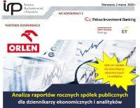 Zapraszamy na konferencję – Analiza raportów rocznych spółek publicznych dla dziennikarzy ekonomicznych i analityków