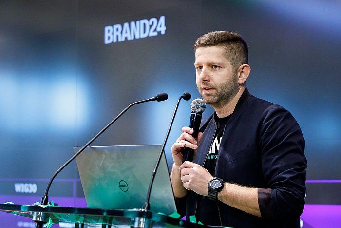 Brand24, prezes, sadowski, wyniki, akcje,