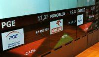 Realizacja zysków na GPW, czerwono na PGE, Enei i Tauronie