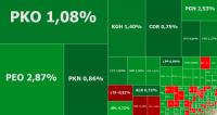 WIG20 wreszcie odbija, zielono m.in. na Pekao i PKO BP