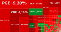 Realizacja zysków nabiera tempa, w grze PGE i Dino Polska